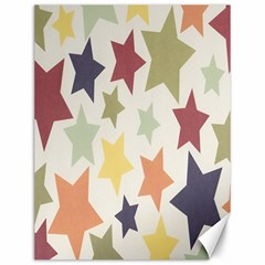 Star Colorful Surface Canvas 12  X 16