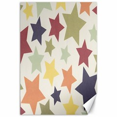 Star Colorful Surface Canvas 12  x 18