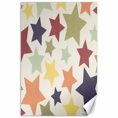 Star Colorful Surface Canvas 24  x 36