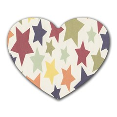 Star Colorful Surface Heart Mousepads