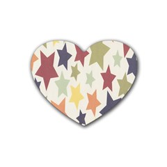 Star Colorful Surface Heart Coaster (4 pack)