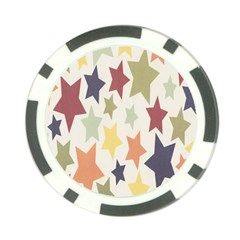 Star Colorful Surface Poker Chip Card Guard