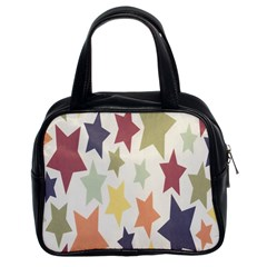 Star Colorful Surface Classic Handbags (2 Sides)