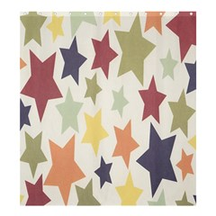 Star Colorful Surface Shower Curtain 66  X 72  (large)