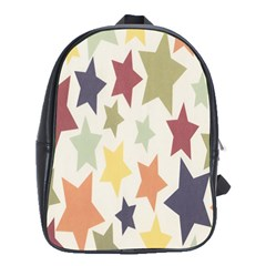 Star Colorful Surface School Bags(large)