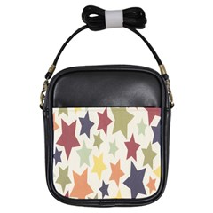 Star Colorful Surface Girls Sling Bags