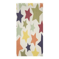 Star Colorful Surface Shower Curtain 36  x 72  (Stall)