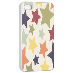 Star Colorful Surface Apple iPhone 4/4s Seamless Case (White)