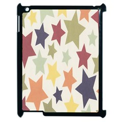 Star Colorful Surface Apple iPad 2 Case (Black)