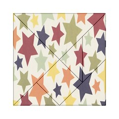 Star Colorful Surface Acrylic Tangram Puzzle (6  x 6 )