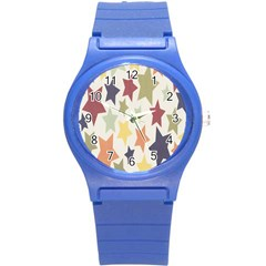 Star Colorful Surface Round Plastic Sport Watch (S)