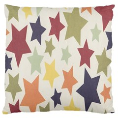 Star Colorful Surface Large Cushion Case (Two Sides)
