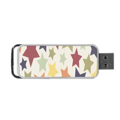 Star Colorful Surface Portable Usb Flash (one Side)