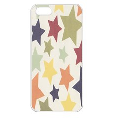 Star Colorful Surface Apple iPhone 5 Seamless Case (White)