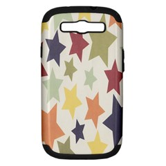Star Colorful Surface Samsung Galaxy S III Hardshell Case (PC+Silicone)