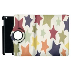 Star Colorful Surface Apple iPad 2 Flip 360 Case