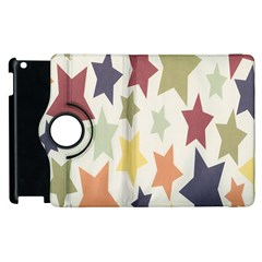 Star Colorful Surface Apple iPad 3/4 Flip 360 Case