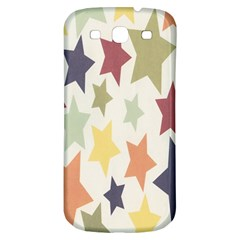Star Colorful Surface Samsung Galaxy S3 S III Classic Hardshell Back Case