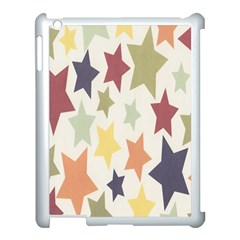 Star Colorful Surface Apple iPad 3/4 Case (White)
