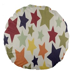 Star Colorful Surface Large 18  Premium Round Cushions