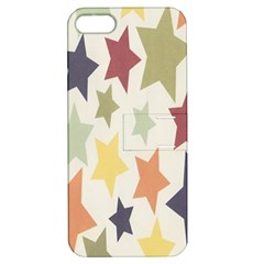 Star Colorful Surface Apple iPhone 5 Hardshell Case with Stand