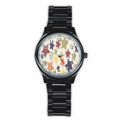Star Colorful Surface Stainless Steel Round Watch