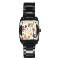Star Colorful Surface Stainless Steel Barrel Watch