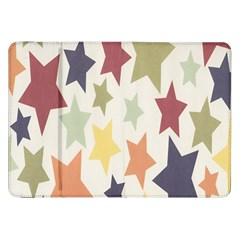 Star Colorful Surface Samsung Galaxy Tab 8.9  P7300 Flip Case