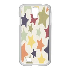 Star Colorful Surface Samsung GALAXY S4 I9500/ I9505 Case (White)