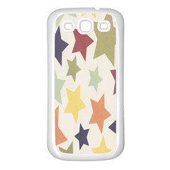 Star Colorful Surface Samsung Galaxy S3 Back Case (white)