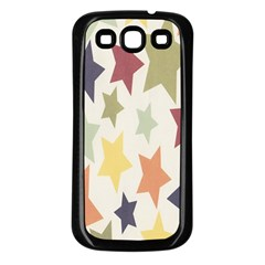 Star Colorful Surface Samsung Galaxy S3 Back Case (Black)