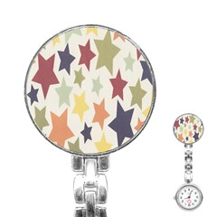 Star Colorful Surface Stainless Steel Nurses Watch