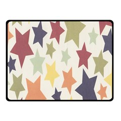 Star Colorful Surface Double Sided Fleece Blanket (Small)