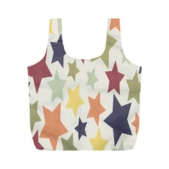 Star Colorful Surface Full Print Recycle Bags (M)