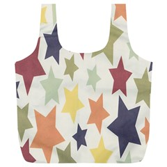 Star Colorful Surface Full Print Recycle Bags (L)