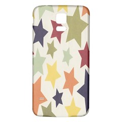 Star Colorful Surface Samsung Galaxy S5 Back Case (White)