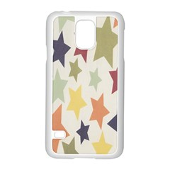 Star Colorful Surface Samsung Galaxy S5 Case (White)