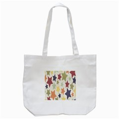Star Colorful Surface Tote Bag (white)