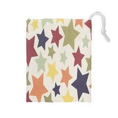 Star Colorful Surface Drawstring Pouches (Large)