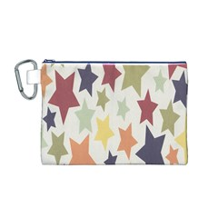 Star Colorful Surface Canvas Cosmetic Bag (M)