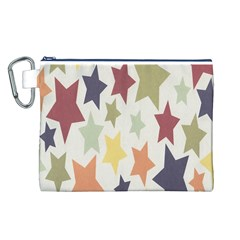 Star Colorful Surface Canvas Cosmetic Bag (L)