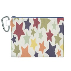 Star Colorful Surface Canvas Cosmetic Bag (XL)