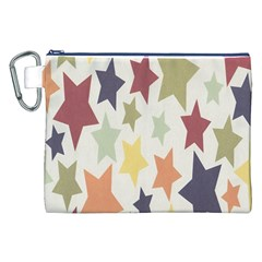 Star Colorful Surface Canvas Cosmetic Bag (xxl)
