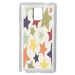 Star Colorful Surface Samsung Galaxy Note 4 Case (white)