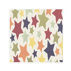 Star Colorful Surface Small Satin Scarf (Square)