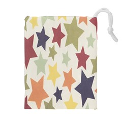 Star Colorful Surface Drawstring Pouches (Extra Large)