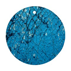 Surface Grunge Scratches Old Ornament (Round)