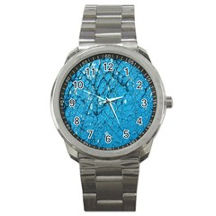Surface Grunge Scratches Old Sport Metal Watch