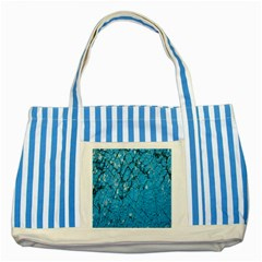 Surface Grunge Scratches Old Striped Blue Tote Bag