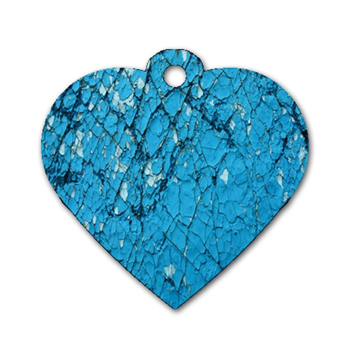 Surface Grunge Scratches Old Dog Tag Heart (One Side)